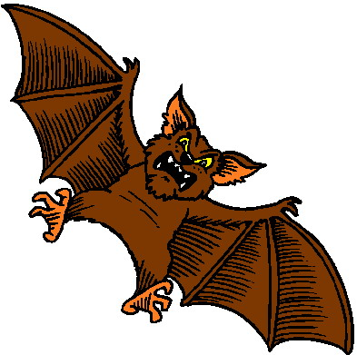 Sleeping bat clipart 2