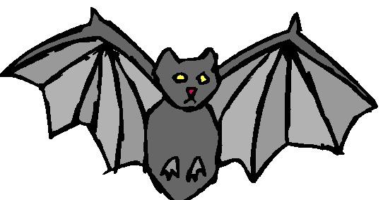 Sleeping bat clipart