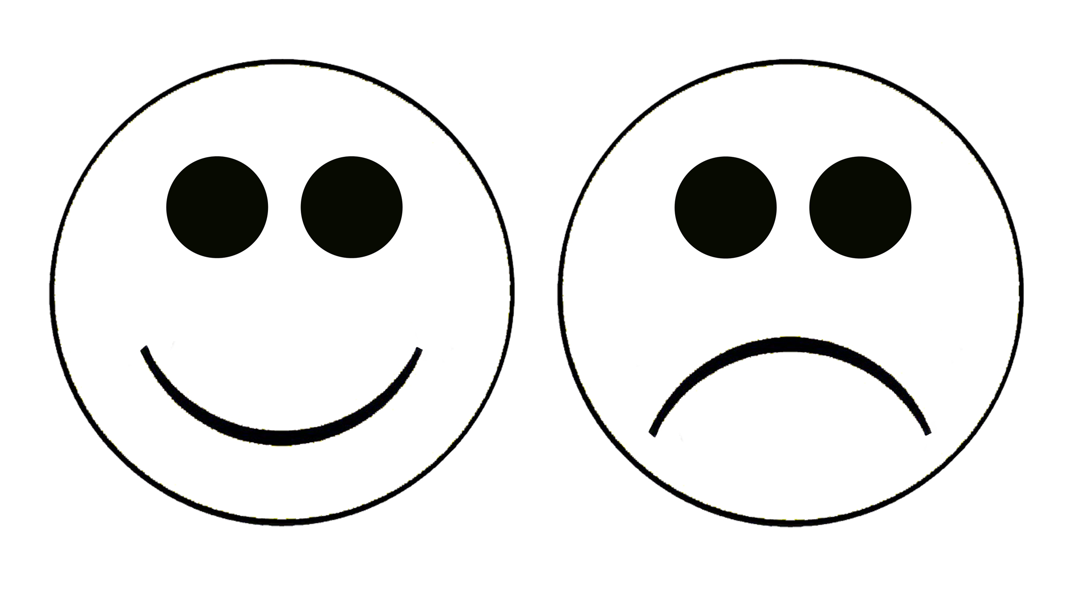 Smiley and sad faces clip art 2
