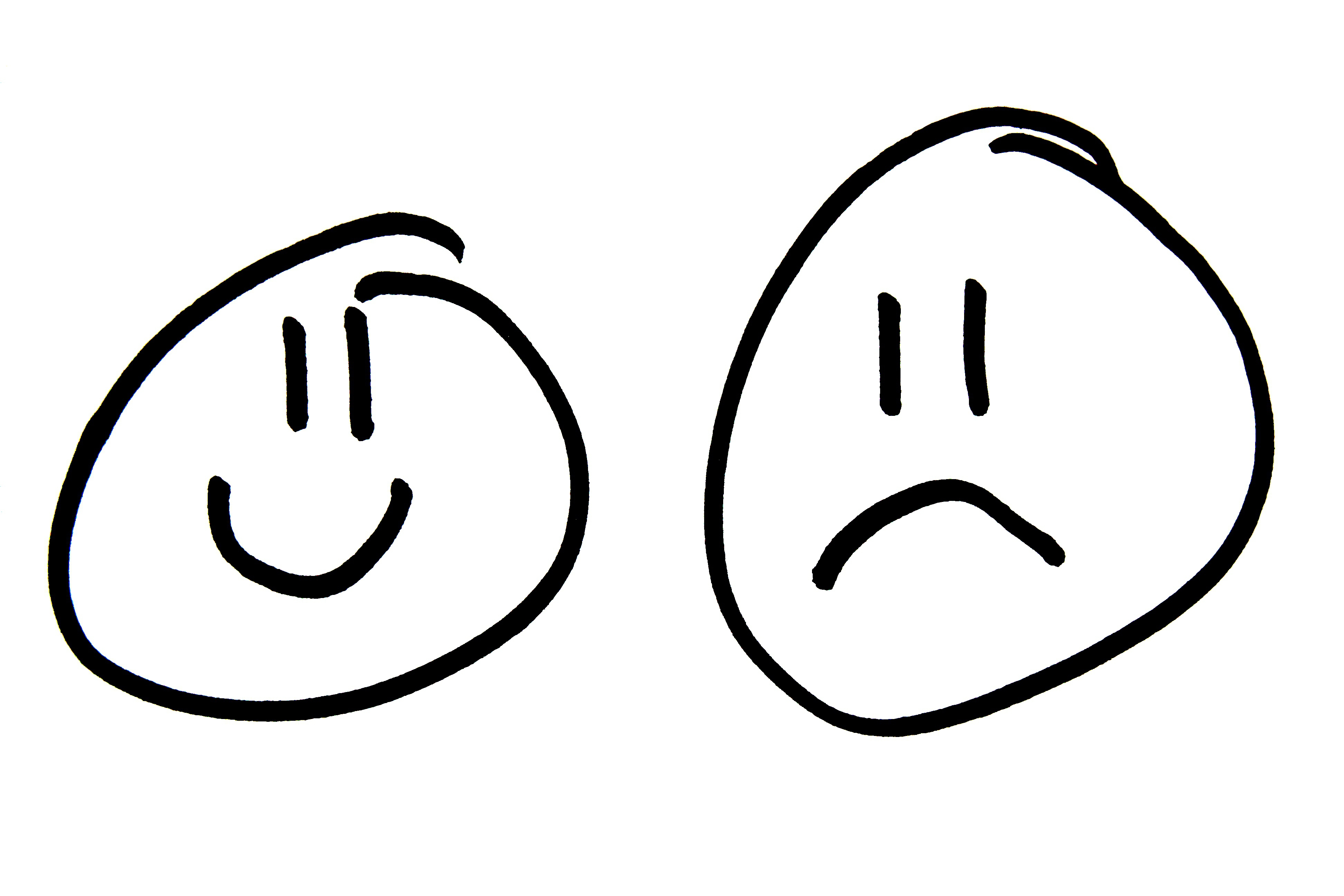 Smiley and sad faces clip art 3