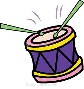 Snare drum drum notes clipart 2