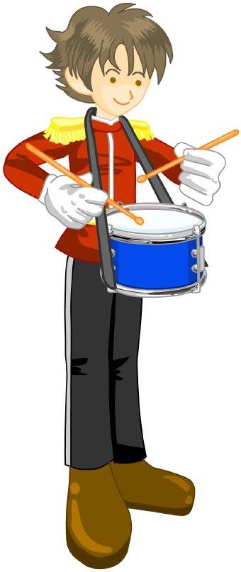 Snare drum drummer clip art