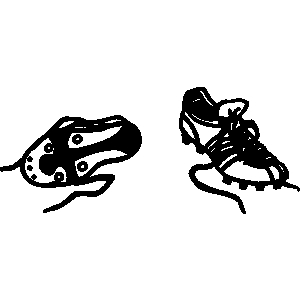 Soccer cleats black and white clipart 2