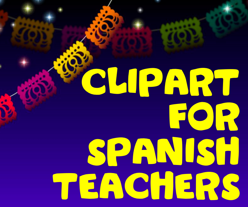 Spanish class language teachers clip art
