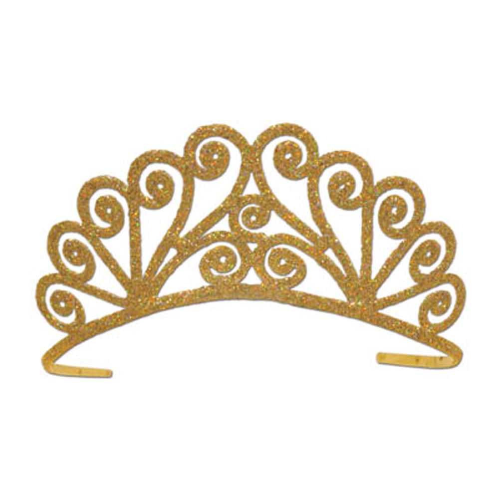 Sparkly silver tiara clipart