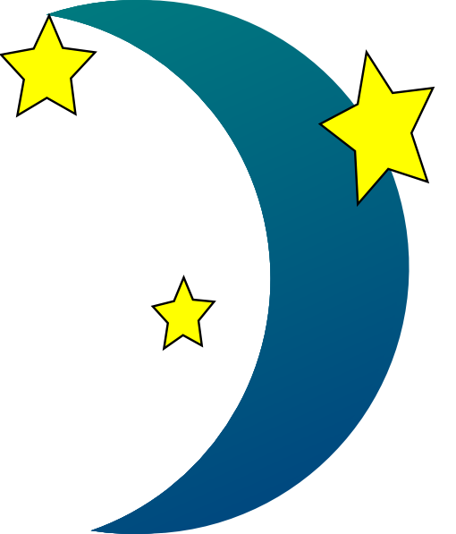 Stars and moon clipart free download clip art 2