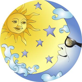 Sun and moon clipart 2