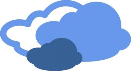 Sun cloud clipart free images 2