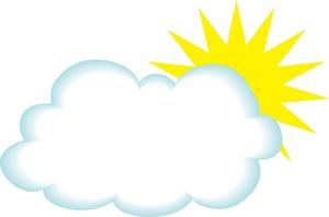Sun cloud clipart free images 3