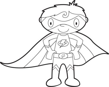 Superhero  black and white flying superhero clipart black and white