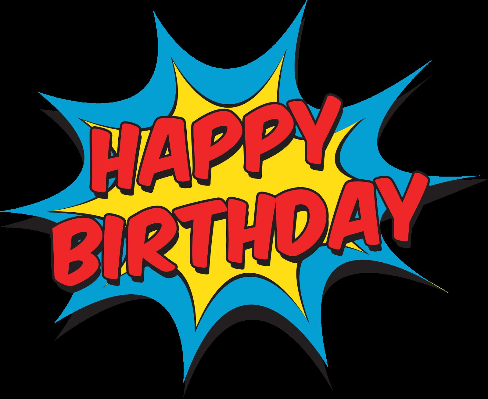 Superman birthday clipart