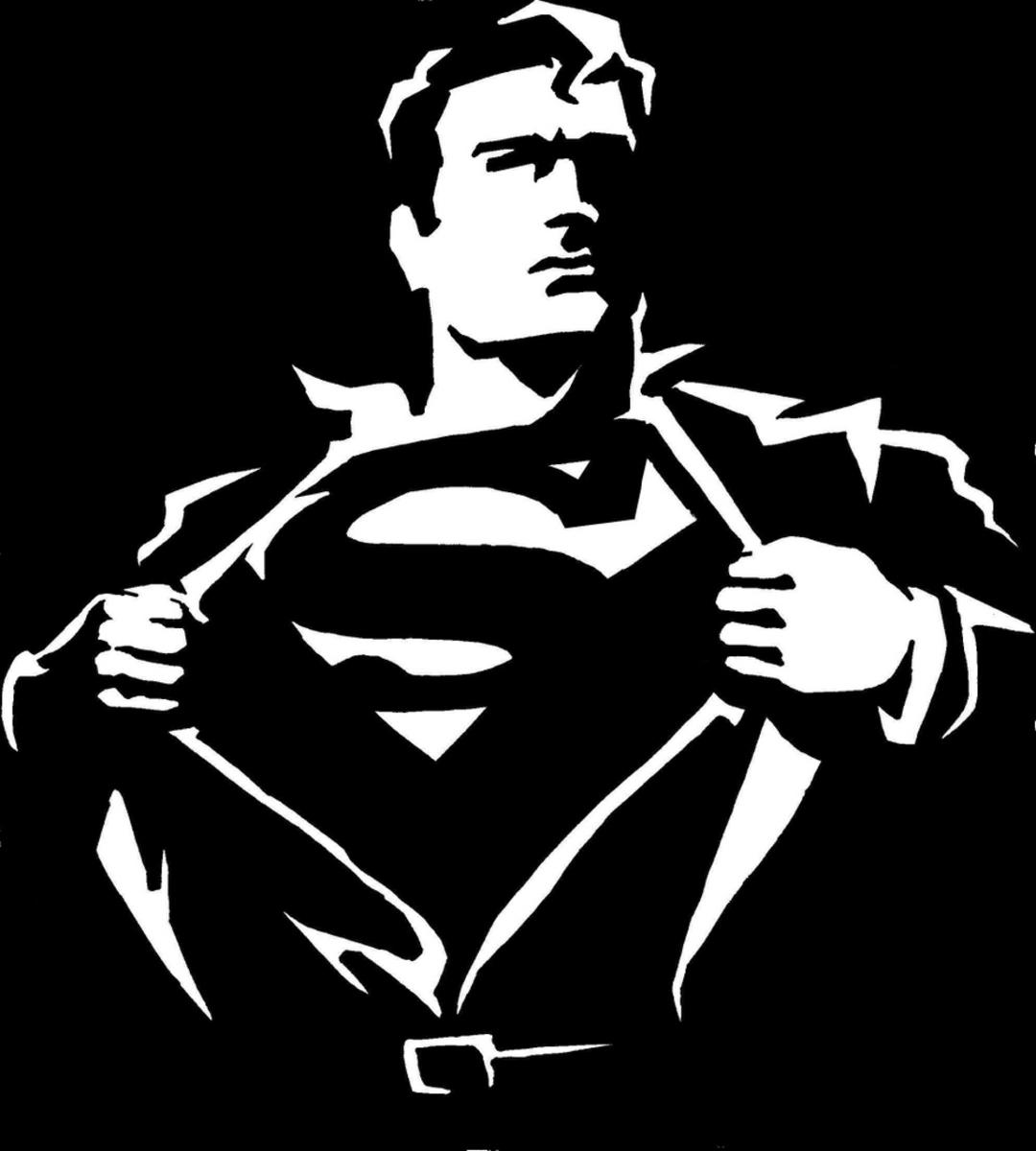 Superman clipart black clipartfox