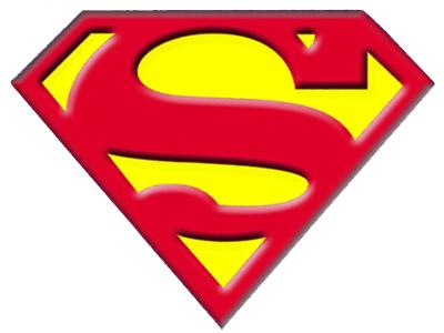 Superman logo clipart