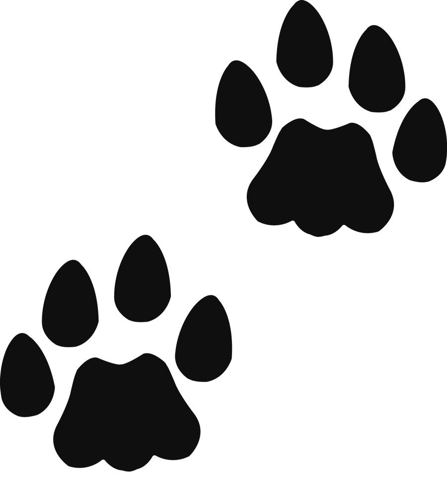 Teddy bear paw print clipart 3
