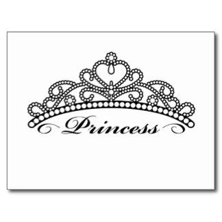 Tiara clip art black and white
