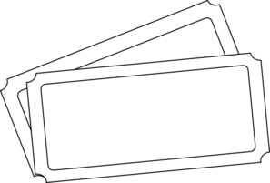 Ticket clipart template