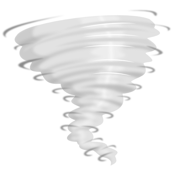 Tornado black and white clipart 2