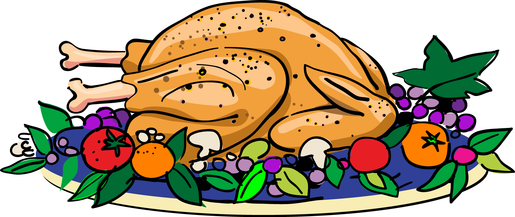 Turkey dinner clipart free images 3