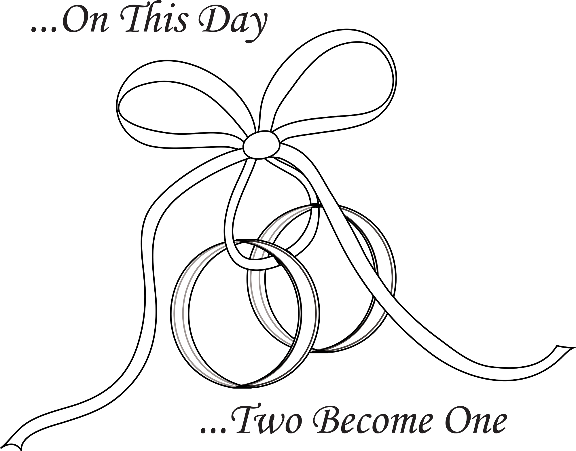 Two wedding rings clipart