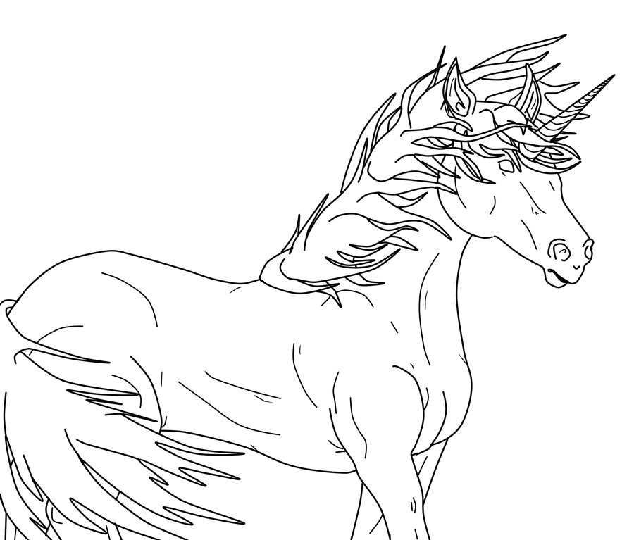 Unicorn outline 4