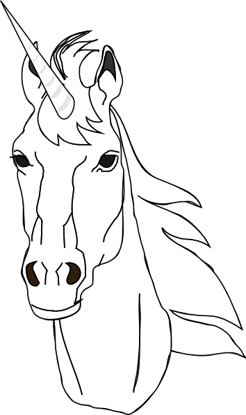 Unicorn outline clip art at vector clip art