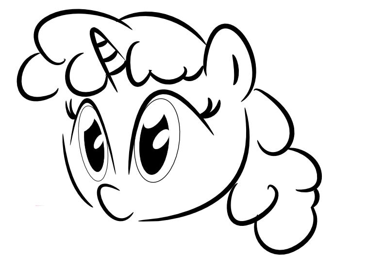 Unicorn outline clipart 4