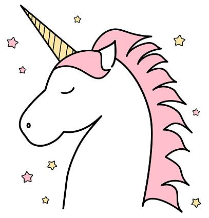 Unicorn outline clipart