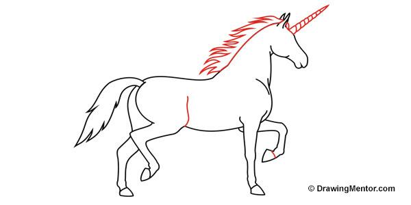 Unicorn outline how to draw a unicorn tutorial 2