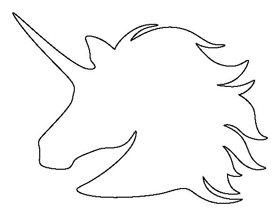 Unicorn outline unicorn head pattern use the printable outline for crafts