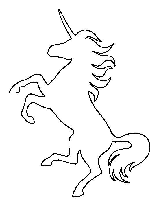 Unicorn outline unicorn pattern use the printable outline for crafts creating