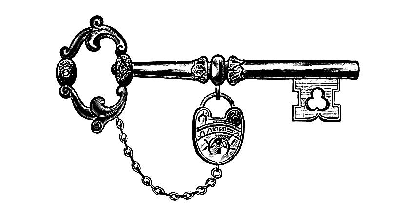 Victorian key clipart 2