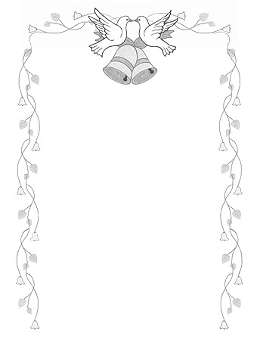 Wedding borders bell borders clipart 2