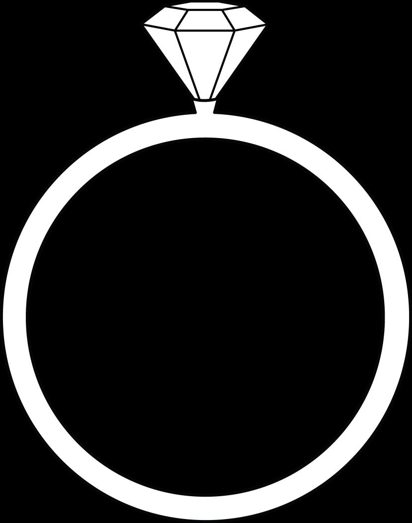Wedding diamond ring clipart 2