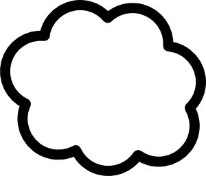 White cloud clipart free images 4