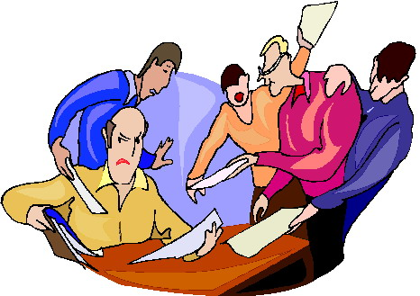Wrap up meeting clipart 2