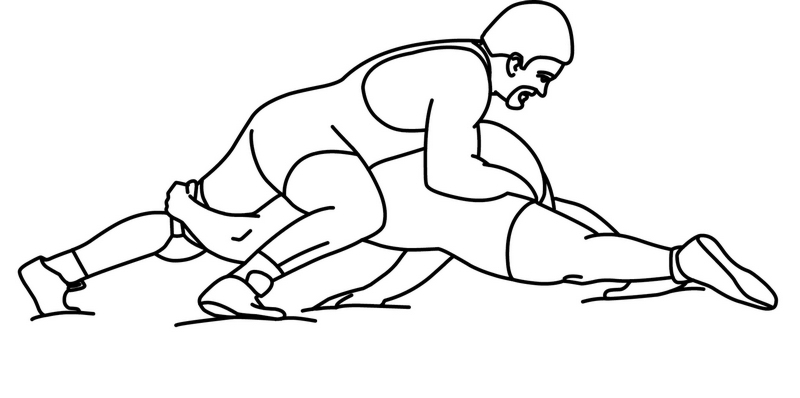 Wrestling clip art free clipart images