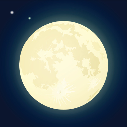 Yellow full moon clipart