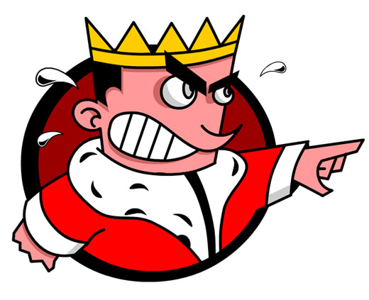 Angry king clipart 6
