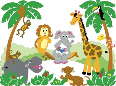 Baby jungle animals clipart free images