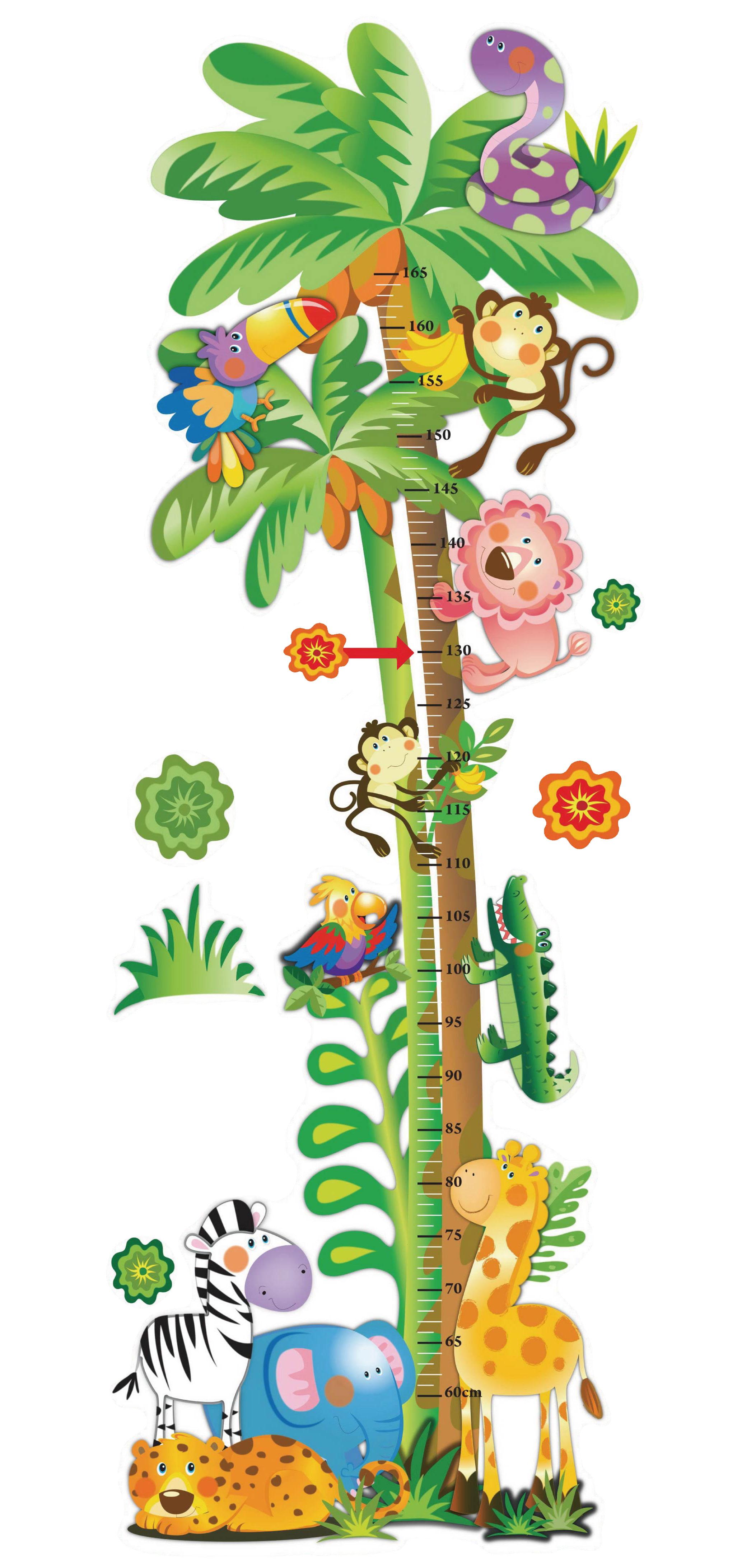 Baby jungle border clipart