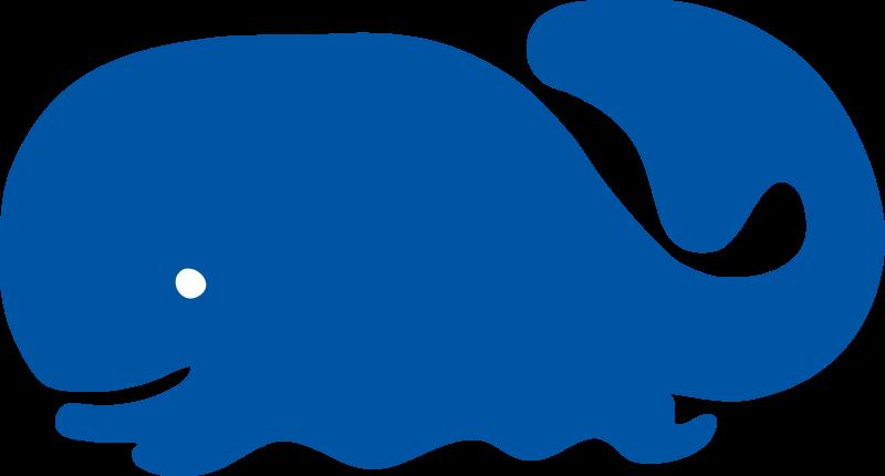 Baby whale blue whale clip art