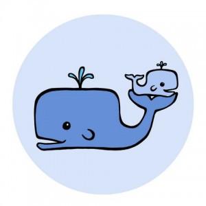 Baby whale clip art little light blue baby famclipart