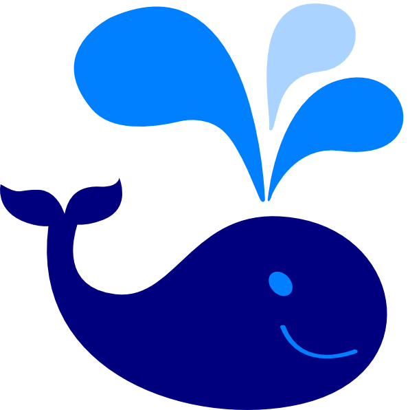 Baby whale clipart 2