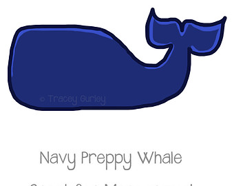 Baby whale navy whale clipart