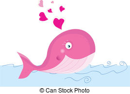 Baby whale pink whale clipart 2