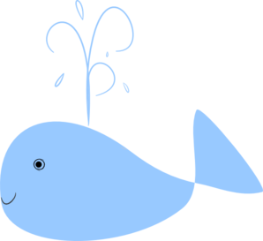 Baby whale whale clipart free