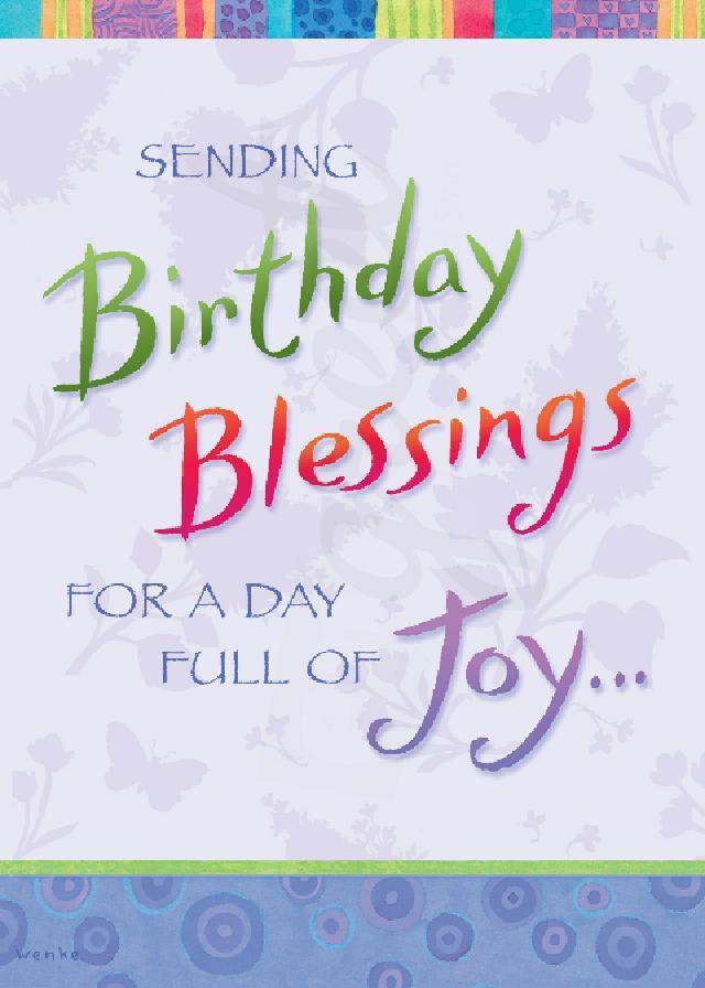 Birthday blessings clipart 2