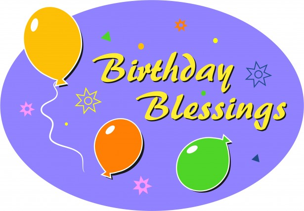 Birthday blessings clipart