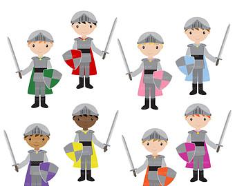 Boy knight clipart