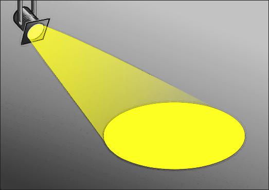 Cartoon spotlight clipart image